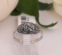 Simple small retro fashion female delicate flower ring Attractive decoration ring