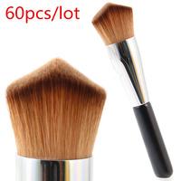 Professional Makeup Brush Double Wedge Kabuki Brush  Makeup Tool For Liquid Cream Powder Application Wholesale 60pcs/lot