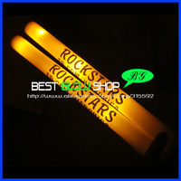 High Quality Free Shipping 180pcs/lot 3 modes yellow led foam stick light cheering glow stick for party Christmas