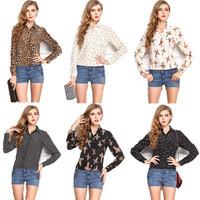 Blusas Femininas 2015 New Chiffon Shirt Long Sleeve Women Clothing Tops Ladies Casual Blouses & Shirts Fashion roupas femininas