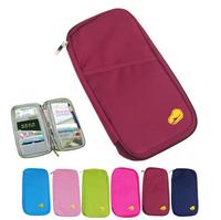 New Colorful Travel Wallet Passport Ticket ID Credit Card Holder Cover Organiser Bags handbag Zip
