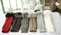 Free shipping Fingerless women's Long Sleeve Gloves Style Long Winter warmer fur fingerless gloves 5 sets for wholesale