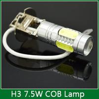 1PCS H3 7.5W Super Bright Car LED Front Headlights High Power Light Fog Bulb Lights Lamp 12V White