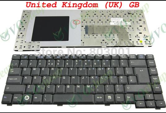 QWERTY Hot sale laptop computer keyboard for Fujitsu Pa1510 Pa2510 Pi1505 uk Layout(China (Mainland))