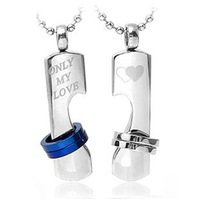 Retail + wholesale! 316L Stainless Steel love's Pendant Necklace TG000258