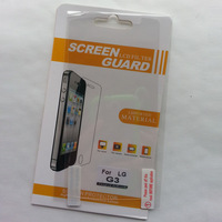 Retail pack 10pcs/lot HD clear Screen guard for LG G3 screen protector film