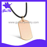 GusKu Gus-TUPN-005 New Arrival  Free shipping POPULAR  tungsten pendant necklace with chain