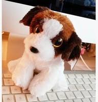 "TY big eyes Chocolate dog doll 2pcs/lot 15cm (6.5 "") plush toy doll birthday gift for child car decoration AB103"