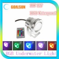 High brightness 12V 10W RGB 16 Color LED Underwater Light Lamp led Flood light,Waterproof IP68 fountain Swimming pool Lamp