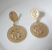 New arrival matte gold human head stud earrings fashion stars earrings for women charm jewelry vintage earring wholesale price