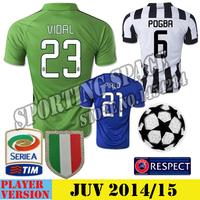 2014 2015 season, the Italian Football League Juven soccer jersey Pirlo, Boge Ba, Morata, Carlos Tevez, Vidal, Chiellini jersey