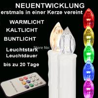 Kostenloser Versand DHL 20er Ser LED Kabellose Weihnachtskerzen Christbaumkerzen Weihnachten Christbaumschmuck  Buntlicht Kerze