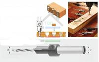 5pcs Adjustable Depth Round Shank Woodwork Tapered Countersink Hole Saw Drill Bit Set