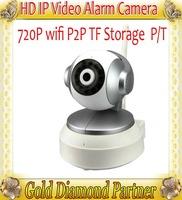 HD 720P WiFi IP HD Camera H.264 1.0MP P2P Remote monitoring Micro SD IP Camera Car DVR Retail box QR Code GH710IR Free shipping