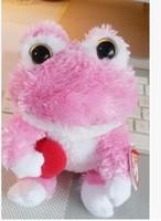 """TY big eyes Pink frog doll 15cm (6.5 """") push dolls toys gift for children to birthdayAB103"""