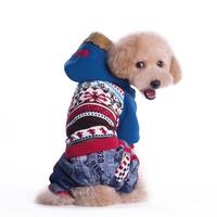 New Pet Supply Designer Dog Clothes Jumpsuit Winter Coat Jacket Thicken Four Legs Warm Cotton Outwear Costume Size S M L XL XXL