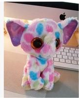 """TY big eyes color an elephant doll  15cm (6 .5"""") push dolls toys baby birthday present AB103"""