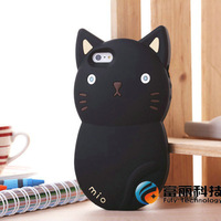 Novelty Lovely Silicone 3D Cartoon animal Cat Case cover for iPhone 6 6G iphone6 4.7 inch,10pcs/lot