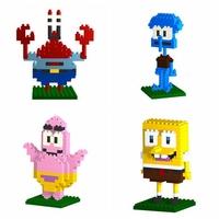 6pcs/lot LOZ Diamond Blocks Granule Builing Bricks Educational DIY Set Toys for Children Gift Patrick Star Squidward Tentacles
