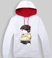 Cat cotton velvet hooded long-sleeved jacket in autumn and winter sweater men