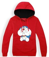 A Dream autumn and winter jingle cats cotton long-sleeved Doraemon hooded sweater cartoon adolescent male sports jacket