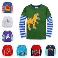 2015 New 10 color Children's T-shirt Baby boy girl's long sleeves T shirts Child Children's Clothing cartoon t-shirt