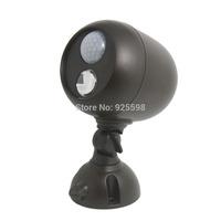New Weatherproof Wireless LED Spotlight w Motion Sensor & Photocell