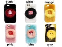 10PCS/LOT free shipping  newest Cute 3D Fur monster Sulley hard  cartoon back Cover Phone Case for iphone 5 5S