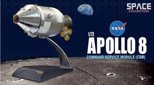 Free Shipping NASA space Scale model Desktop Model Dragon Plastic Model Kit 1/72 NASA Apollo 8 Command & Service Module(China (Mainland))