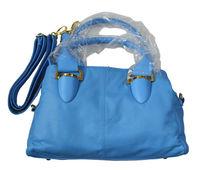 2015 Orange pink blue black brown candy  pigskin bag  shoulder cross-body women's genuine leather handbag