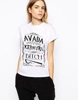 Harry Potter Spell Avada Kedavra Wizard Women t shirts Letter Printing avada kedavra Shirts avada kedavra t-shirts