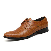 Men's pointed toe fashion  business  oxford loafer  casual shoes british style office career shoes