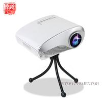 White 200Lumens Mini LED Projector,480*320,Support HDMI,VGA,USB,SD,AV,Analog TV,Earphone,RED/BLUE 3D,Portable,Free Mini Tripod