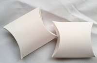 """Free Shipping 50pcs White Wedding Party Baby Shower Favor Pillow Box DIY Box Candy Jewellery Gift Boxes 3.5'x3"""""""