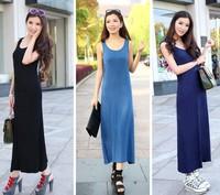Women 2015 Fashion Modal Long Maxi Dress Sexy European and American Lades Casual  Summer Dress Brand vestido de festa