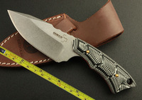 FAST Hong Kong Post  FREE SHIPPING New Boker CNC BLACK G10 Handle D2 Blade Full Tang Hunting Sheath knife H301