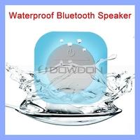 Mini Portable Waterproof Wireless Bluetooth Speaker Shower Car Handsfree Receive Call & Music Suction Speaker with Mic