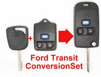 Free Shipping new style 3 Button Remote auto car Key Shell Case FOB Conversion Folding Type KIT For Ford Transit Transit Connect
