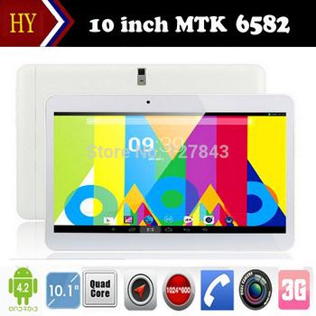 10 дюймов MTK6582 WCDMA 3 г телефон планшет пк RAM 2 г ROM 16 г четырехъядерный core1. 5 ГГц андроид 4.4 3 г планшет GPS bluetooth wifi с 2 SIM карты