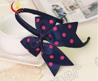 The new children's hair band  bows Hair band high quality models DIY bowknot Navy dovetail hair band