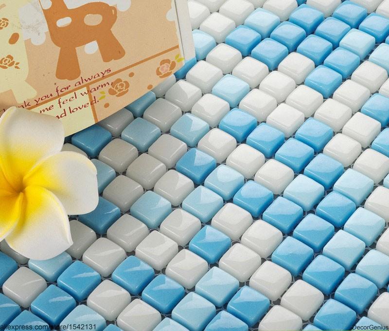 Swimming Pool Wall Design Mosaic Blue Glass Decoration Tiles Art(China (Mainland))