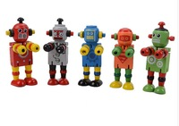 Variety Early Learning Toy Robot Wisdom lock wooden puzzle toys for children infant brain development  5pcs/lot