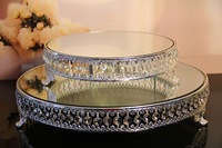 home wedding event decoration dia:31 and 45cm fashion silver color classic crystal cake stands Storage Trays(2pcs/set)