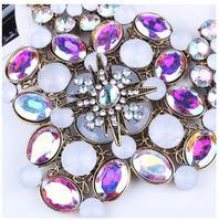 Statement necklace 2014 women new design high quality rhinestone choker necklace