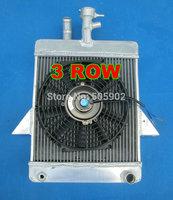 3 ROW  aluminum alloy radiator + FAN  for Triumph GT6 1966-1973 1967 1968 1969 1970 1971 1972 66 67 68 69 70 71 72 73