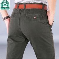 NianJeep Wholesale Price Real Men 100% Cotton Men's Plus Size Pants,29/42 Big Size Brand Water Washing Cotton Leisure Pant