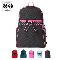 2014 Fashion Brand 8848 Fabric Girls Preppy School Backpack Women Bow  Laptop Bags Travel Bag  Free Shipping