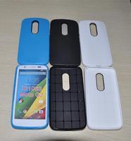 100pcs/lot Honeycomb Style Ultra Slim Soft Silicone TPU Case for Motorola Moto G2 G 2nd Gen XT1063