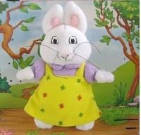 "Cartoon rabbit plush doll  2pcs /lot 20cm (7.87 "") push dolls toys for little baby birthday gift  AB103"