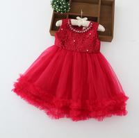 Baby Girls High Quality Princess Hand-made Beading Flower Bridemaids Tutu Bow Dance Dress Wholesale 6 pcs/lot,